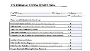 Sample Bank Statement Adorable Sample Financial Review Forms 48 Free Documents In Word PDF