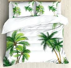 palm tree duvet cover tropical duvet cover set coconut palm tree nature paradise plants foliage leaves palm tree duvet cover