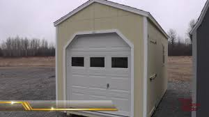 A Sheds With Garage Doors  Storage Motorcycle ATV