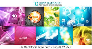 Collection Of Vector Shiny Light Templates Glowing Colors Abstract Backgrounds Designs