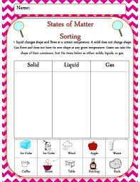 Solids, liquid, and gas sorting activity! One of 19 pages from my ...
