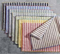 striped bathroom rugs marlo stripe bath rug pottery barn