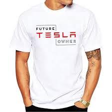 Tesla Clothing Size Chart Future Tesla Owner Creative Men S T Shirt Men 2018 New Short Sleeve O Neck Novelty Top Tee