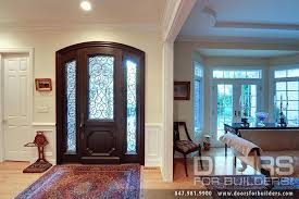 wood entry doors with glass custom solid mahogany wood door with two and wrought iron front
