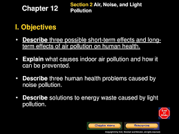 Causes Of Light Pollution Name Five Primary Air Pollutants And Give Sources For Each
