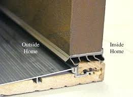 exterior door threshold install. exterior door threshold replacement sweep installation on wood cutaway view sill parts install n