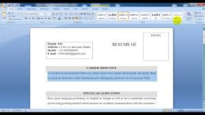 how to create a bio data by word  how to create a bio data by word 2007