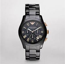 emporio armani watch men new emporio armani black ceramica model ar1410 mens watch rose gold 100% authen