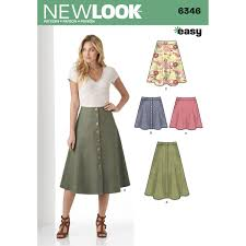 Skirt Pattern Awesome New Look Women's Easy Skirt Sewing Pattern 48 Hobbycraft