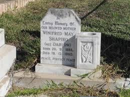 Winnifred May Shapiro (Darlow) (1888 - 1960) - Genealogy