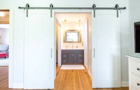 double sliding barn door hardware kit for two doors with 8 feet track 96