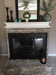 how to whitewash a fireplace and how to paint over that brassy outdated finish