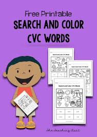 These free worksheets are printable and designed to accommodate any lesson plan for reading that includes. Search And Color Cvc Words Worksheets The Teaching Aunt