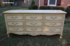 diy dresser makeover french provincial from the thrift painting outside thrift diving