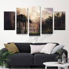 5 panel star wars canvas wall art oil painting abstract movie poster modular wall picture for on star wars canvas panel wall art with 5 panel star wars canvas wall art oil painting abstract movie poster