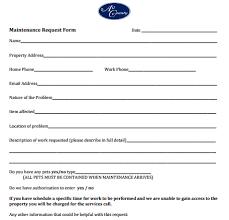 Maintenance Request Form Template Excel 5 Maintenance Request Form Templates Free Sample Templates