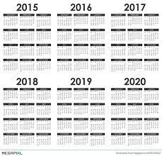 2015 2020 Calendar Illustration 59546242 Megapixl