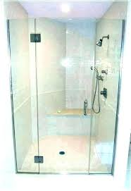 glass shower doors cost to install door installation how replace with curtain of sh