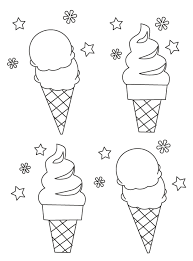 無料のアイスソフトクリームのぬりえ ぬりえパーク