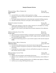 Exelent College Student Summer Job Resume Composition