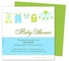 Invite Templates For Word Magnificent Clothesline Baby Shower Template Invitation Edit Yourself With Word