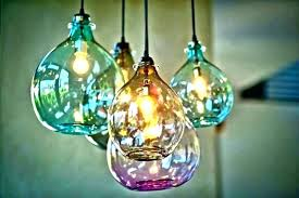 art glass lighting fixtures chandeliers blown glass chandelier lovely turquoise light fixture hand blown glass chandelier