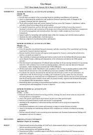 Senior Technical Accountant Resume Samples Velvet Jobs