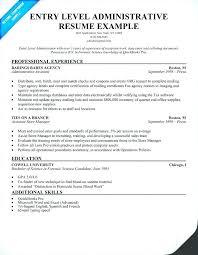 Exchange Administrator Resumes Entry Level Resume Format Administration Resume Entry Level