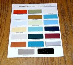 1956 chevy paint chip chart all