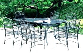 wrought iron patio dining set oval table