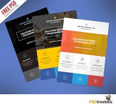 Free Product Flyer Templates Flat Clean Corporate Business Flyer Free PSD PSDFreebies 1