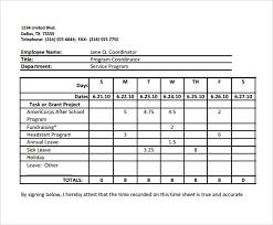 Biweekly Timesheet Calculator 8 Samples Examples Formats
