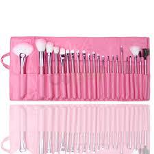 22pcs superior professional soft cosmetic makeup brush set pink pouch bag case ebay
