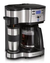 hamilton beach single serve coffee brewer and full pot coffee maker 2 way