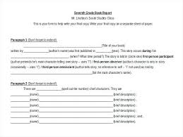 Ms Word Format Book Report Template Free Download Microsoft