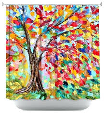 colorful shower curtains tree of life shower curtain with shower curtain artistic poetry of a tree colorful shower curtains