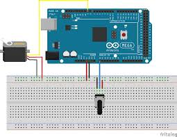 servo motor control an arduino caution do not try to rotate the servo motor by hand as you damage the motor