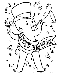 Small Picture New Years Day Coloring Pages Baby New Year Coloring Page