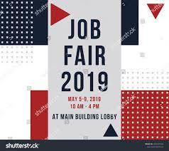 Design Job Fair Job Fair Poster Job Recruitment Event Stock Vector Royalty