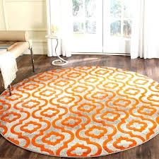 appealing 7 ft round rugs contemporary geometric light grey orange rug 6 inside design foot rugby area rugs round 5 foot