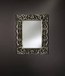 baroque rectangle decorative framed wall mirror