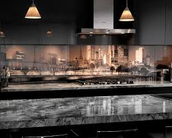 a photo of the city s skyline is the inspiration for this spectacular kitchen backsplash in melbourne image visual resource