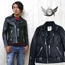 666 ljm 12tf tight fit 70 s punk style leather jacket riders double