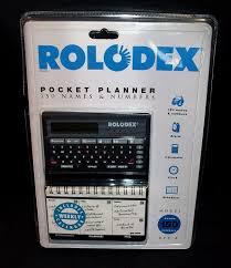 Rolodex 3k Electronic Pocket Planner Directory Rpp 3 Paper