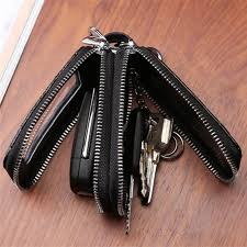 <b>BYCOBECY</b> Genuine Leather <b>Car</b> Key Wallets Men Key Holder ...
