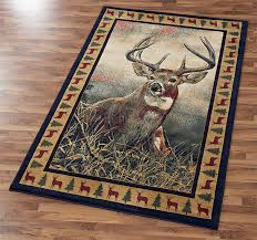 majestic whitetail area rug wild wings
