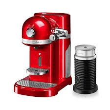 kitchenaid artisan nespresso empire red coffee maker aeroccino 3 bundle 5kes0504ber harts of stur