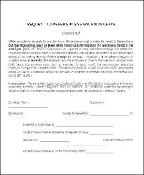 Letter Format For Vacation Leave Vacation Request Form Template Word Annual Leave Letter