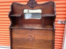 larkin desk antique solid oak bookcase desk in cherry point larkin desk key