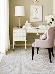 feminine office with plush armchair